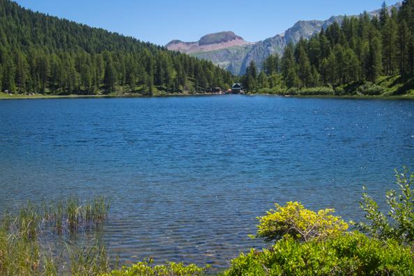 Lago Malghette in Madonna di Campiglio in the Italian Dolomites