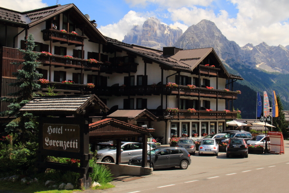 The Hotel Lorenzetti in Madonna di Campiglio in the Italian Dolomites