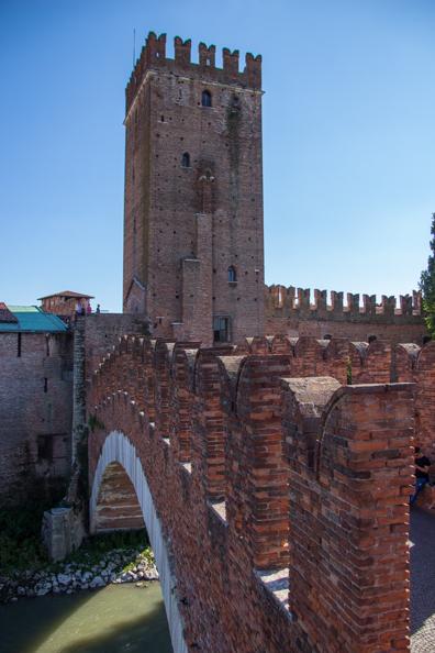 Ponte Scaglieri in Verona, Italy