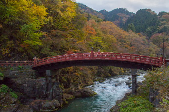 Shinkyo Bridge at the entrance to Toshogu in Nikko, Japan