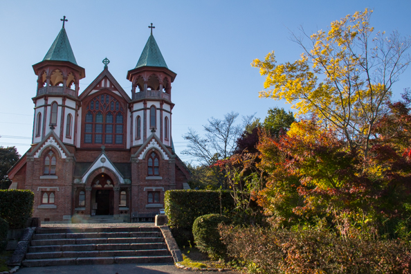 Saint John's Anglican church in the Meiji Mura outdoor museum near Nagoya, Japan