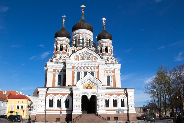 Russian Alexander Nevsky Cathedral in Tallinn, Estonia