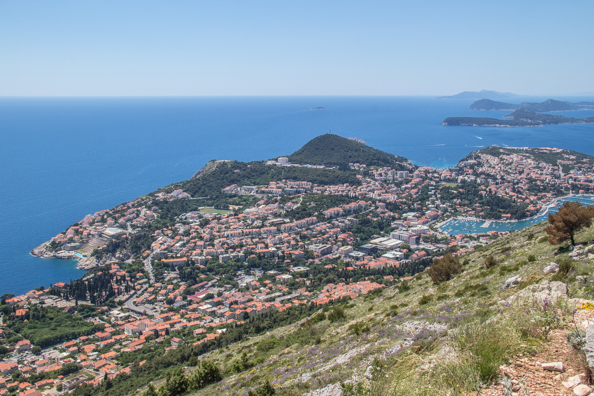View from Srd Hill above Dubrovnik in Dalmatia, Croatia