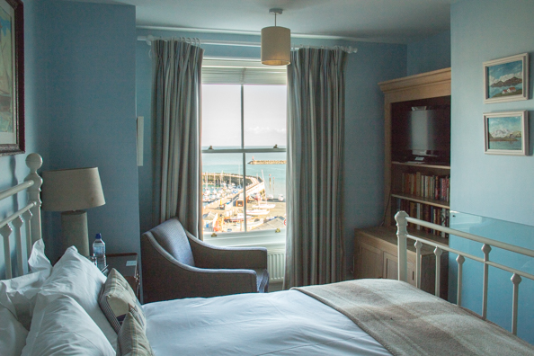 Bedrroom at the Royal Harbour Hotel in Ramsgate, Kent, UK