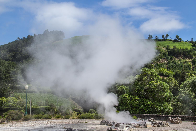 Fumeroles n the Azores - Furnas Volcano Caldera