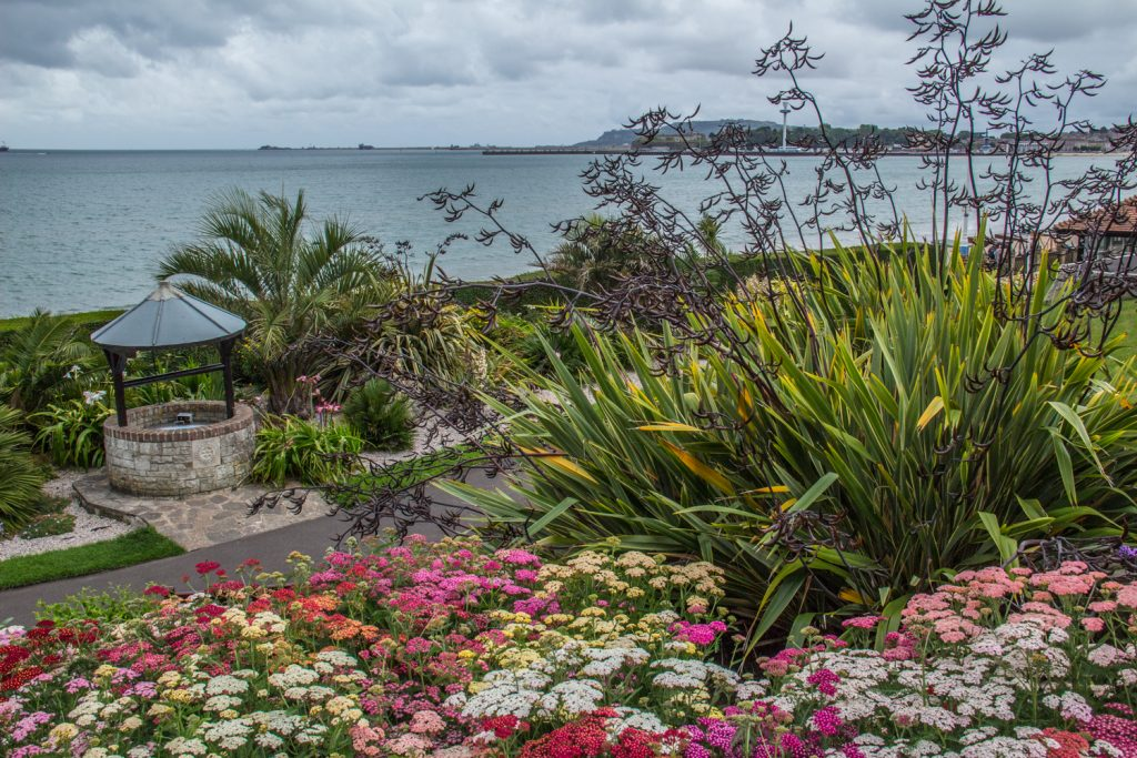 Greenhill Gardens in Weymouth, on the Jurassic Coast in Dorset, UK