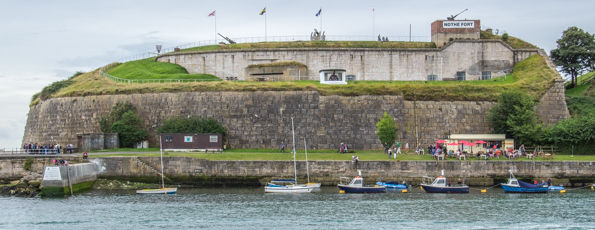 Nothe Fort in Weymouth on the Jurassic Coast in Dorset, UK