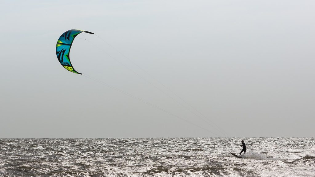 kite surfer in Morocco