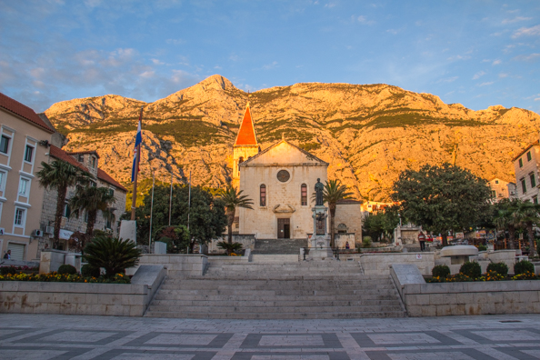 The Baroque church of Saint Mark in Kačić Square in Makarska in Dalmatia, Croatia