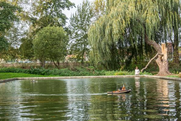 Model Boating Pond in Woodbridge, Suffolk