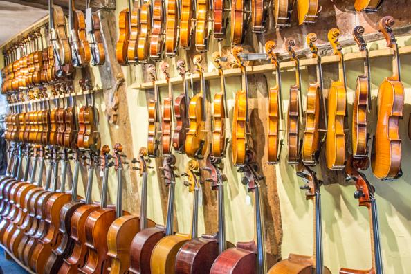 Violin shop in Woodbridge, Suffolk