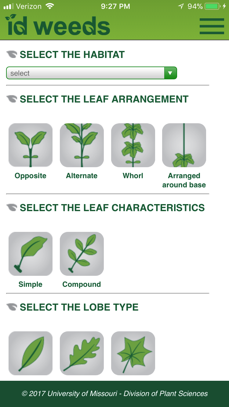 Smartphone Applications to Assist with Weed Identification
