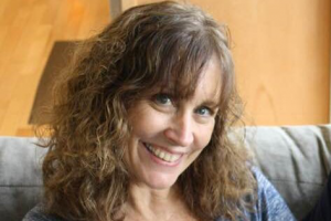 Casual portrait of Kathy Coffey.