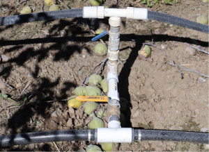 image showing how the system connects to the existing sprinkler with separate shutoff valve.