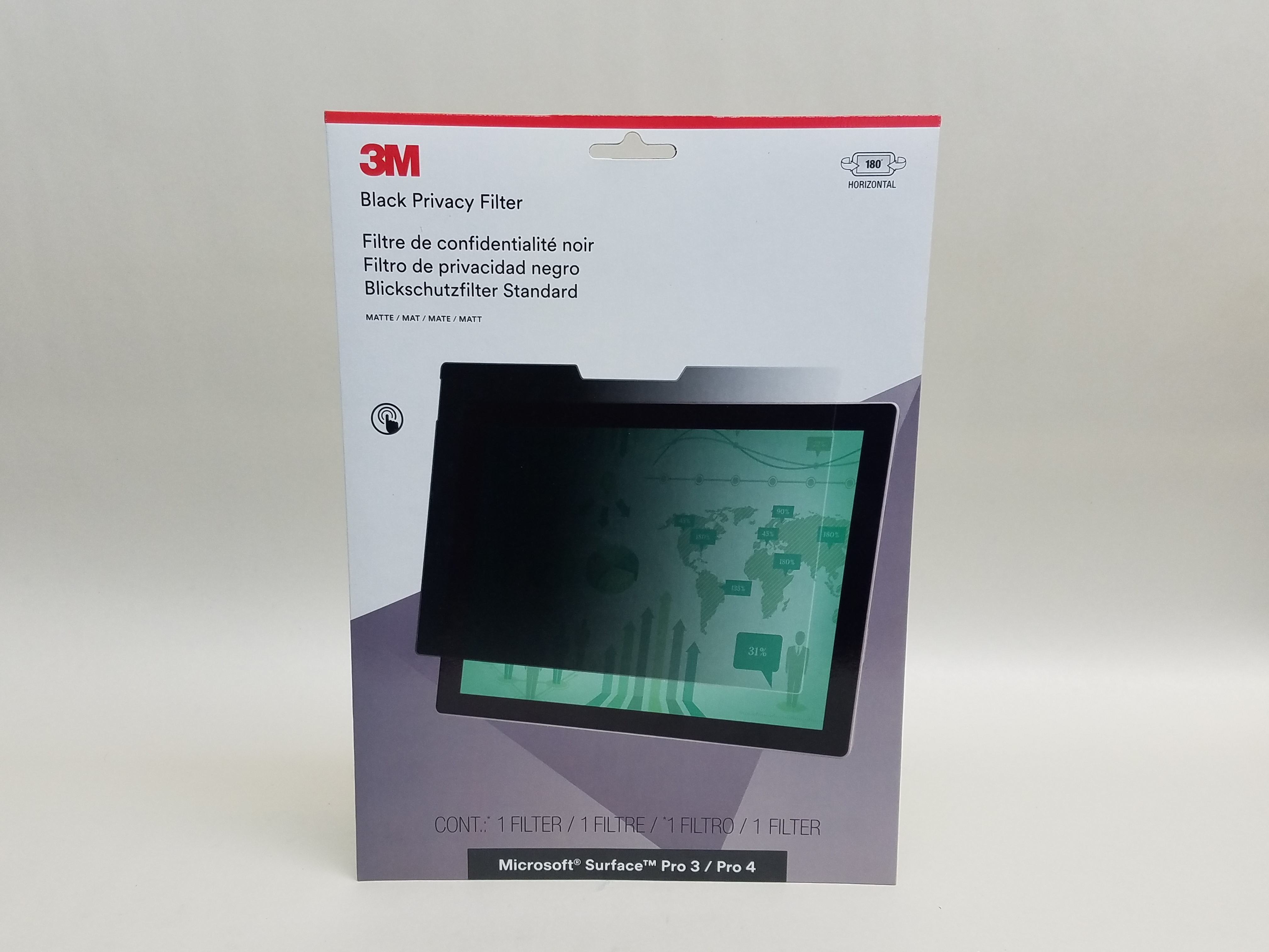 3M Privacy Filter for Microsoft Surface Pro 3 / 4 - PFTMS001 Landscape