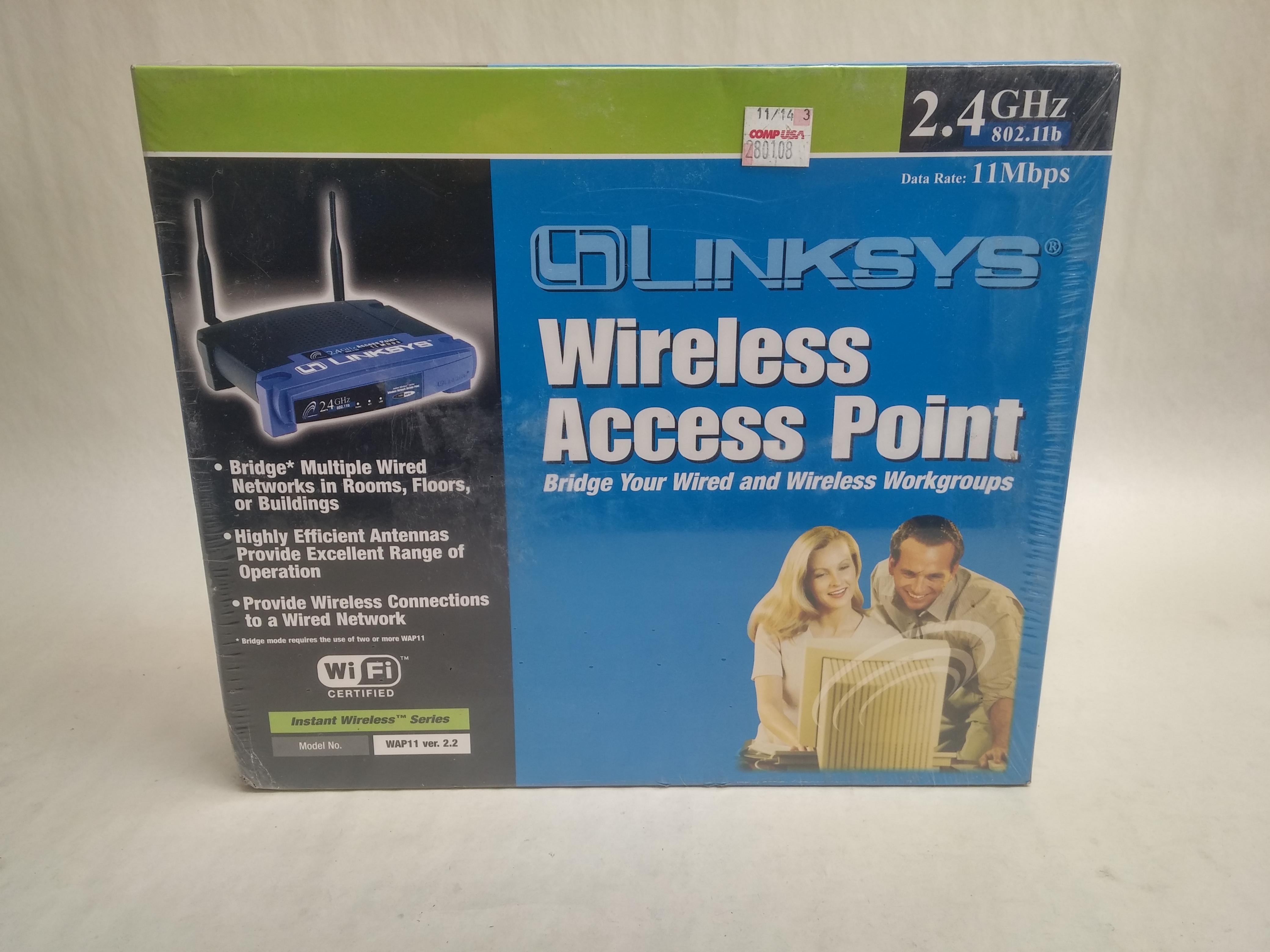 New Linksys WAP11 Ver 2.2 Wireless Network Access Point 2.4GHz | eBay