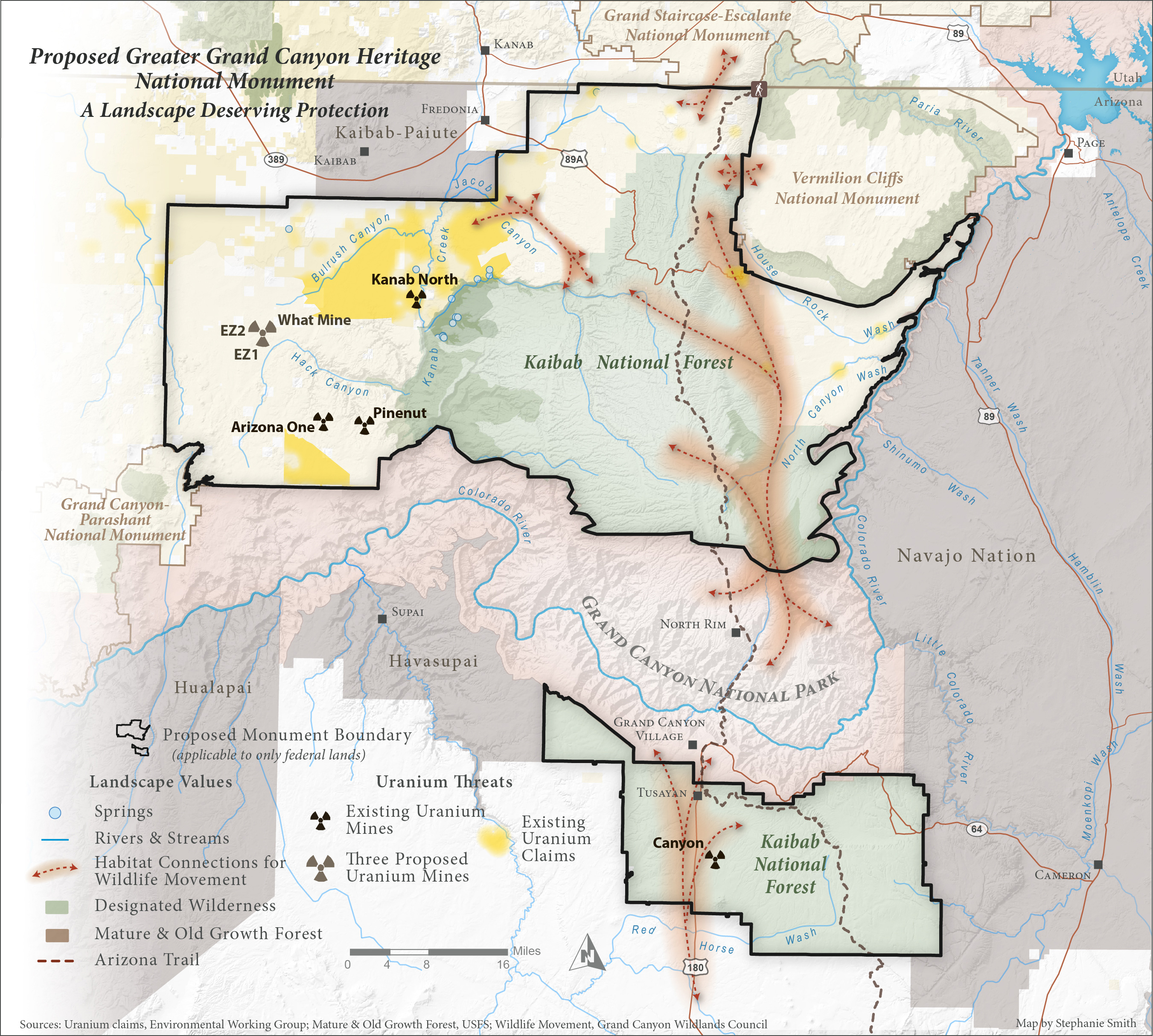 Map Of Arizona And Grand Canyon.Grand Canyon Conservation Grand Canyon Trust