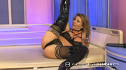 Lynda Leigh showing off her very sexy legs in many varios positions and then performing some sexy twerking