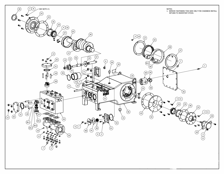 TT-150 Mud Pump Parts View