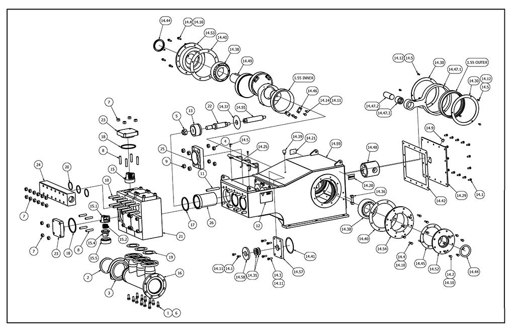 TT-540 Mud Pump Parts View