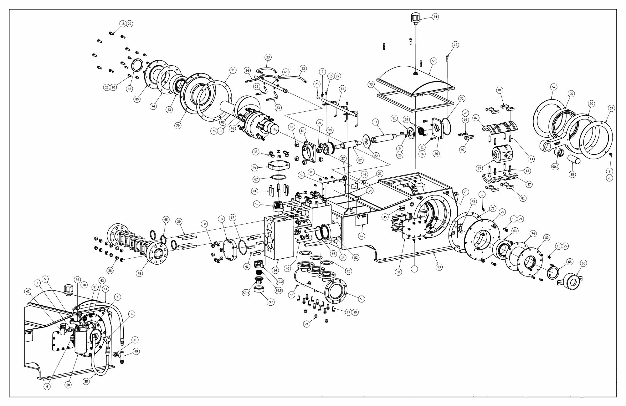 TT-560 Pump Parts View