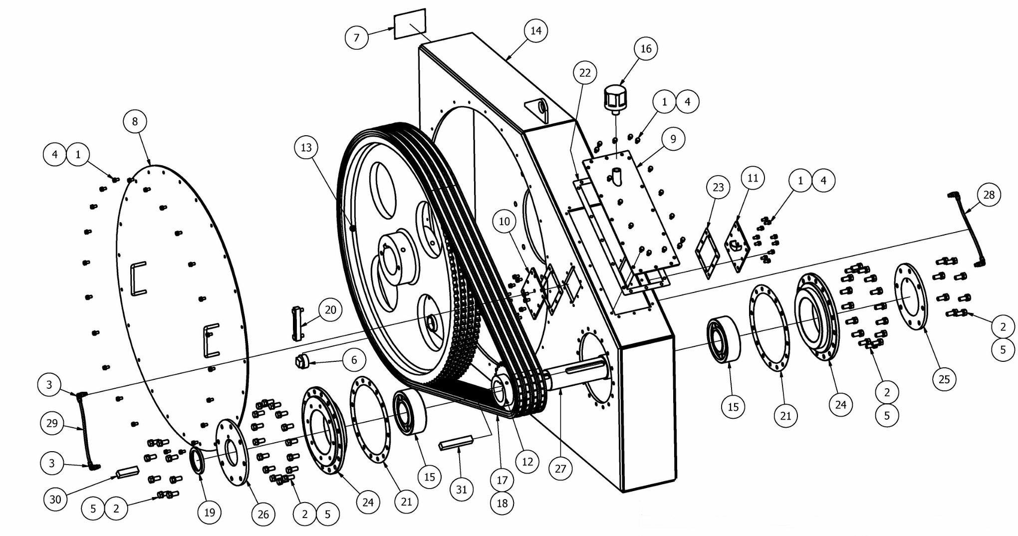 TT-680 Chainbox Parts View