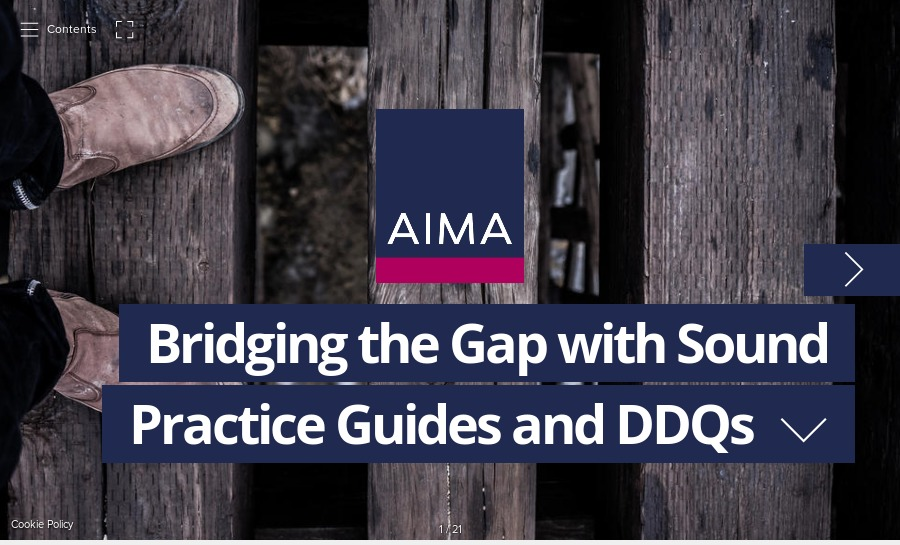 aimas guides comprise the widest body of sound practice output and guidance on the alternative investment fund industry each guide relates to a specific