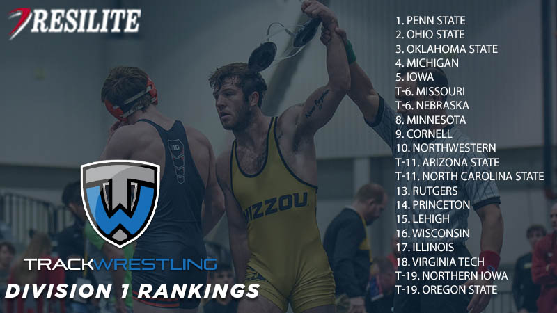 Division I 174-pound rankings presented by Resilite