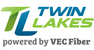 Twin lakes powered by vec fiber logo v1