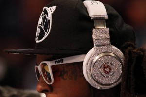 Dr. Dre beats headphones with diamonds