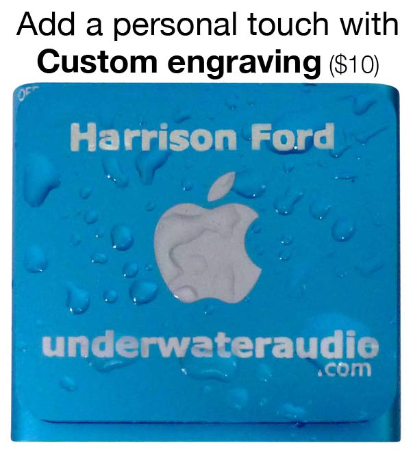 custom engraved iPod, blue