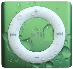 green waterproof iPod shuffle