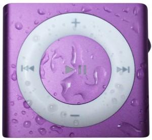 purple waterproof iPod shuffle