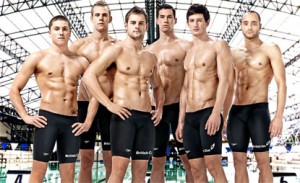 Britain's swimmers 6 pack