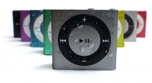 Space grey iPod with color family