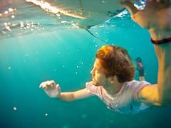 surfer under water