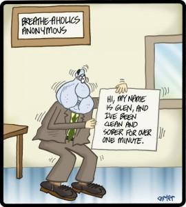 breathe-aholic cartoon