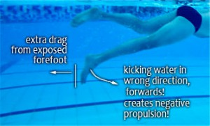 swimming technique toes feet
