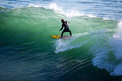 surfer surfing ocean waves