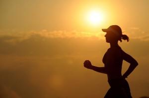runner running silhouette