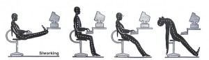 slouch working posture