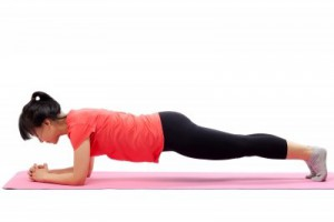 woman planking planks exercise