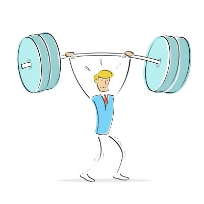 weight lifting man