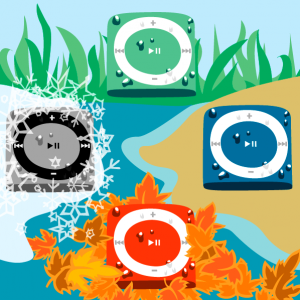 Underwater Audio ipod shuffle illustration