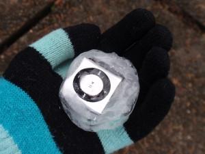 Underwater Audio iced ipod shuffle