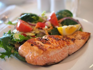salmon healthy food meal