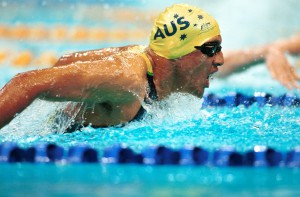 Daniel Bell (AUS) action Swimming 2000 Sydney PG