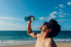 myths about drinking water - thirsty man