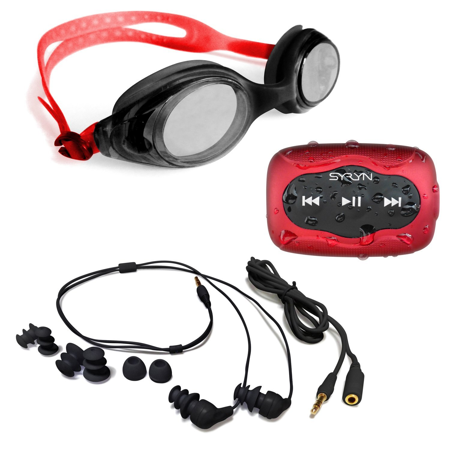 SYRYN MP3 Player With Swimbuds Headphones