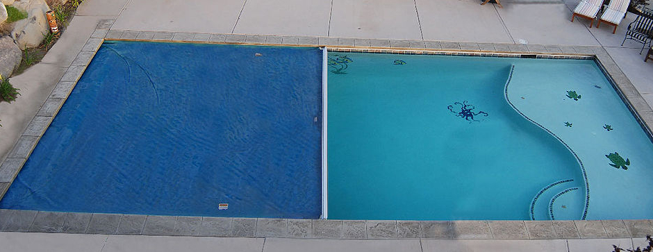 Pool with automatic cover.
